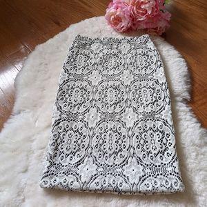 Seven sisters Mendocino texture pencil skirt